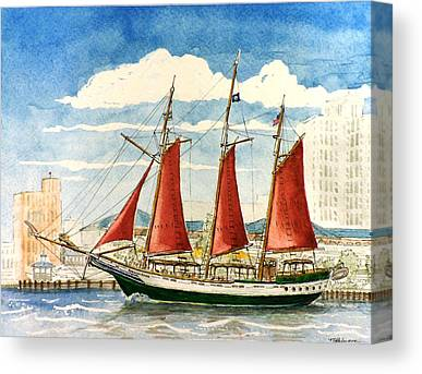 Schooner Canvas Prints