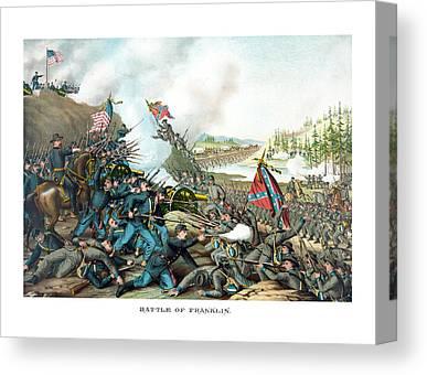 Battle Of Franklin Canvas Prints