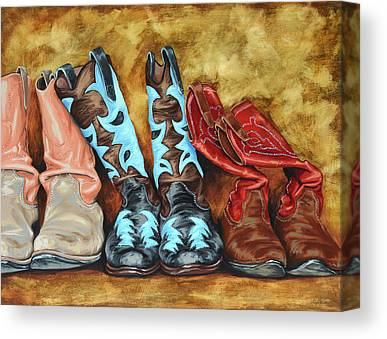 Cowboy Boots Canvas Prints