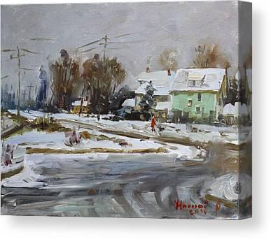 First Snow Canvas Prints