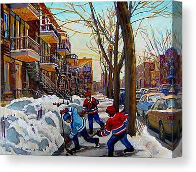 Montreal Winter Scenes Paintings Canvas Prints