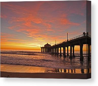 Beach Sunset Canvas Prints
