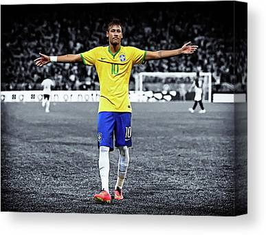 Neymar Jr Canvas Prints