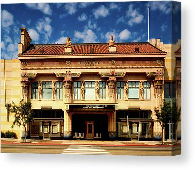 Egyptian Theatre Canvas Prints