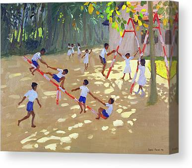 Schoolyard Canvas Prints