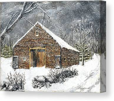 Winterland Scape Canvas Prints