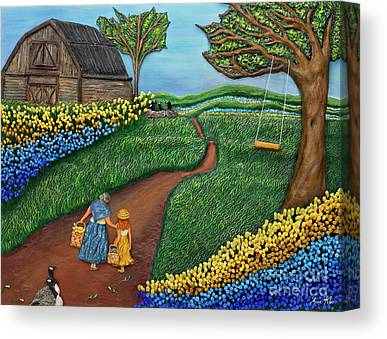 Farm Scenes Mixed Media Canvas Prints