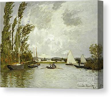 The Little Branch Of The Seine At Argenteuil Oil On By Claude Monet Canvas Prints
