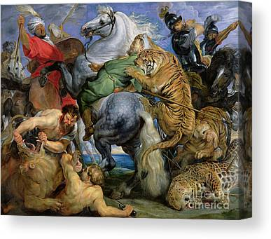 Fighting Tigers Canvas Prints