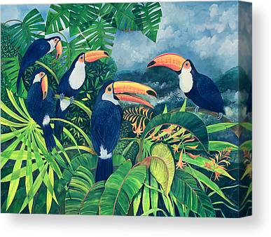 Flock Of Birds Paintings Canvas Prints