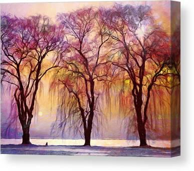 Willow Lake Mixed Media Canvas Prints
