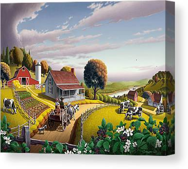 Folkart Canvas Prints