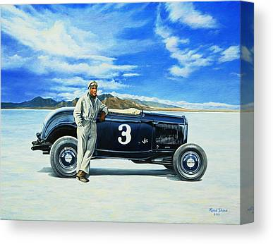 Dry Lake Paintings Canvas Prints