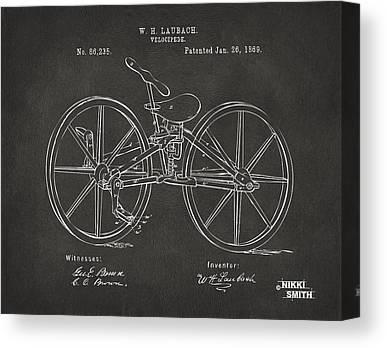 Wooden Wheels Canvas Prints