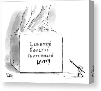 Liberte Drawings Canvas Prints