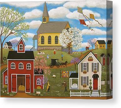 Horse And Buggy Paintings Canvas Prints