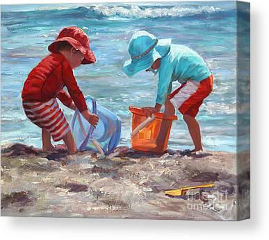 Sand Castles Paintings Canvas Prints