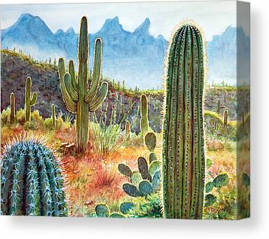 Cacti Canvas Prints