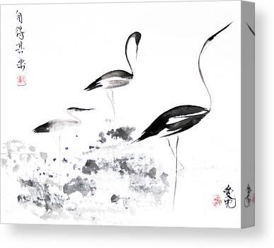 Sumi Ink Canvas Prints