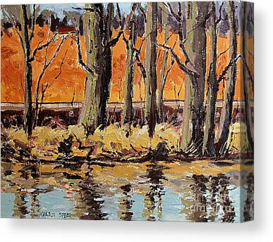 Indiana Winters Paintings Canvas Prints