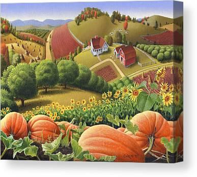Pumpkin Patch Canvas Prints