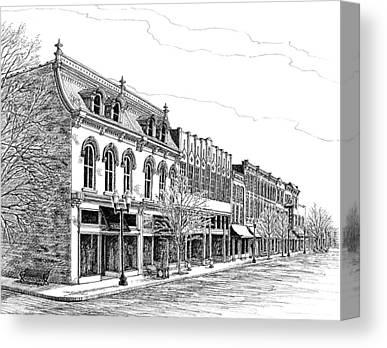 Main Street In Franklin Canvas Prints