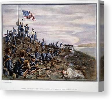 1st Base Paintings Canvas Prints