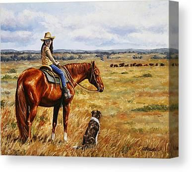 Cattle Dog Canvas Prints