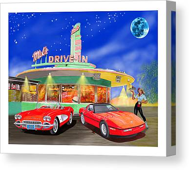 1950s Movies Mixed Media Canvas Prints