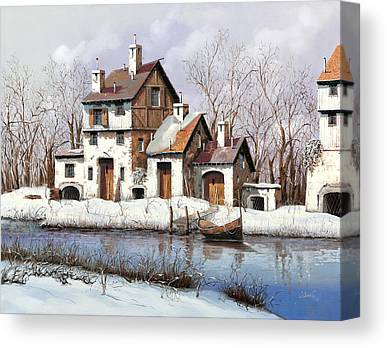White River Paintings Canvas Prints