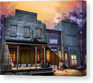 Old West Ghost Towns Canvas Prints