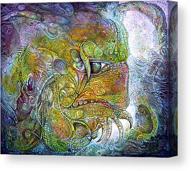 Mische Technique Canvas Prints