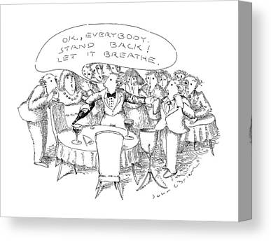 Wine Service Drawings Canvas Prints