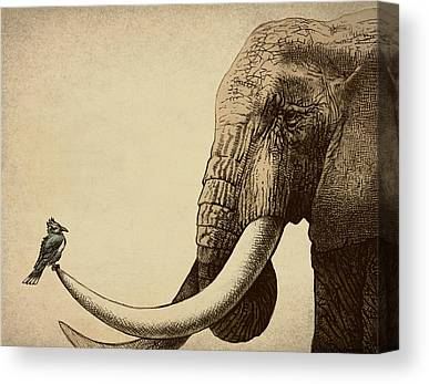 Africa Drawings Canvas Prints