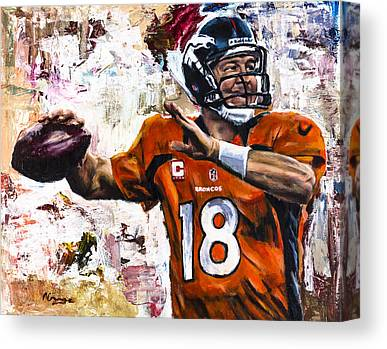 Football Paintings Canvas Prints