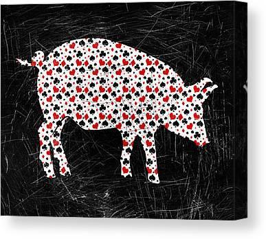 Pig Farms Canvas Prints