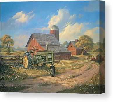 John Deere Tractor Canvas Prints