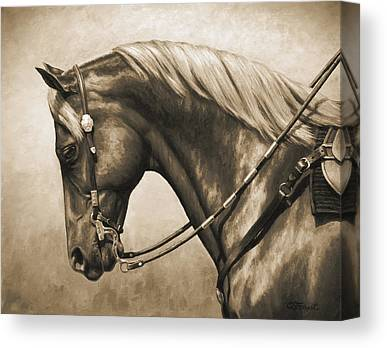 Equine Art Canvas Prints