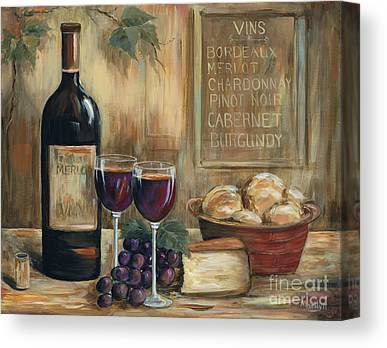 Glass Of Wine Paintings Canvas Prints