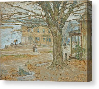 Cos Cob In November Canvas Prints