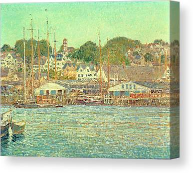 Gloucester Harbor Paintings Canvas Prints