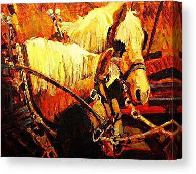 Farm Horses Canvas Prints