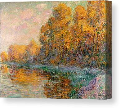 Rivers In The Fall Canvas Prints
