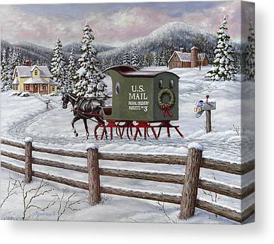 Mail Box Canvas Prints