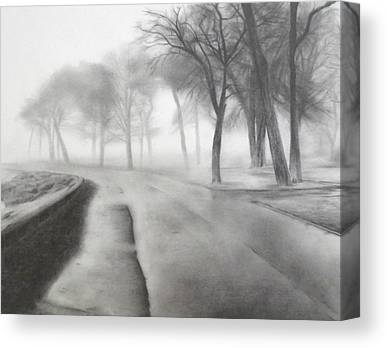Gravel Road Drawings Canvas Prints