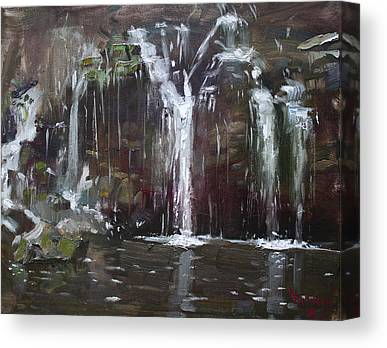 Akron Falls Canvas Prints