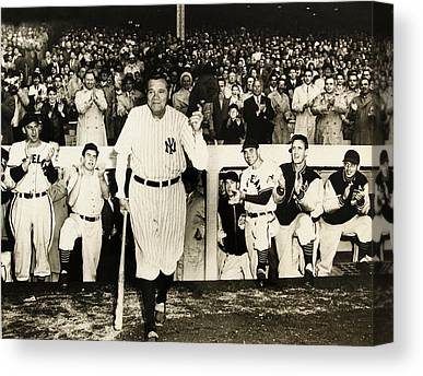 Babe Ruth Statistics Canvas Prints