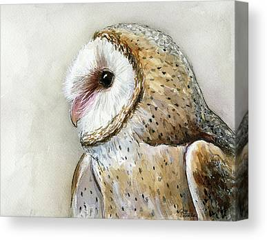 Barn Owl Canvas Prints