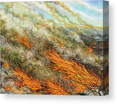 Combustion Paintings Canvas Prints