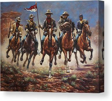 Troops Paintings Canvas Prints